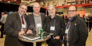 Denis Lacroix (CNRC/NRC), Richard Langlois (Compsult), Serge Pagé (Mat-Comp) et Daniel Poirier (CDCQ)